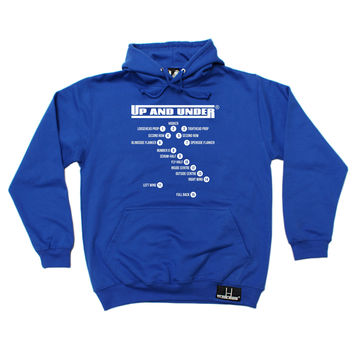 Up And Under Rugby Positions Hoodie