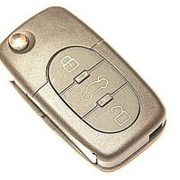3 Oval Buttons Remote Folding Key Flip Shell Case For VW Volkswagen Beetle Jetta Passat Golf