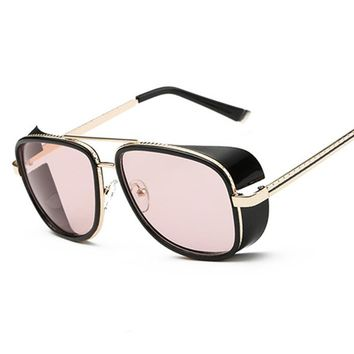 Fashion IRON MAN 3 Matsuda TONY Steampunk Sunglasses Men Women Sun Glasses