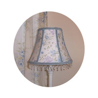Shabby Chic Blue Wildflowers fabric ~ Lamp Shade by ToileChicBoutique