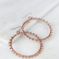 Textured Hoop Rose Gold