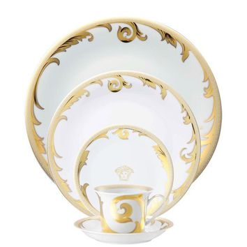 Arabesque Gold 5 piece Dinnerware Set