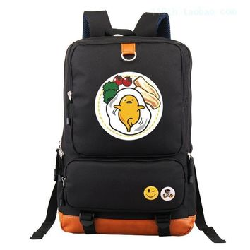 Anime gudetama Cosplay Anime backpack male and female students large capacity leisure backpack child birthday gift