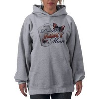 Proud ARMY mom butterflies Hoodie from Zazzle.com
