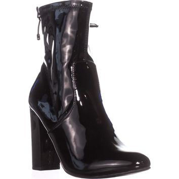 MG35 Mali High Rise Ankle Boots, Black Patent, 8 US