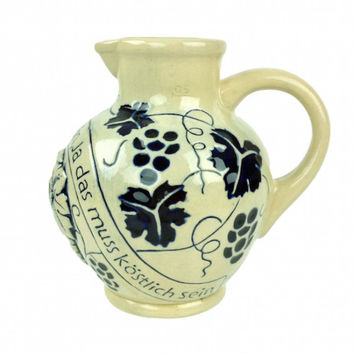 Germany Wine Harvest Ceramic Wine Pitcher