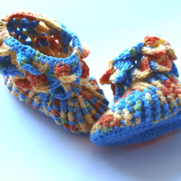 Baby Boy Christening Shoes Slippers Booties Girl Boots western clothes new years crocheted booties multi color booties
