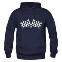 two checkered flags RACING MOTOR SPOR hoodie