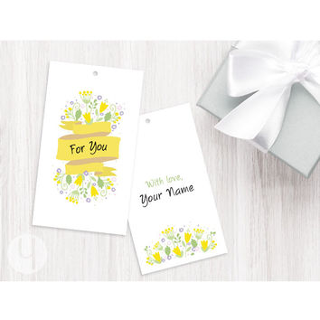 Personalized For You Yellow Banner Tags