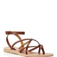 JoieOda Studded Ankle Strap Flat Sandals