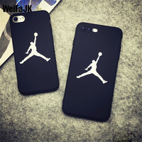WeiFaJK Luxury JORDAN Suprem Case for iPhone 6 6s Plus Case 5 5S Soft Silicon TPU Cover for Apple iPhone 7 Plus Capue Phone Bag