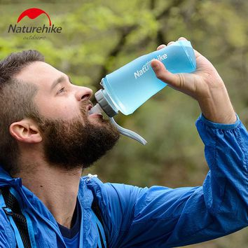 Portable Silicone Water Bag Outdoor Sport Camping Climbing Folding Water Bags 500ml 750ml Drink Kettle Cycling Travel Bottles