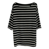 Oversize Black Stripe T-Shirt