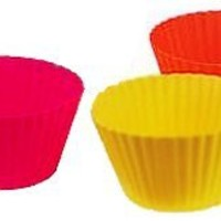 Trudeau Silicone Muffin Cups, Large, Set of 6