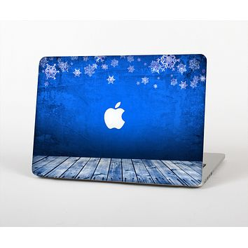 "The Snowy Blue Wooden Dock Skin Set for the Apple MacBook Pro 15"" with Retina Display"