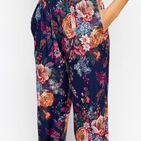 ASOS Peg Trousers in Tapestry Floral Print