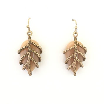 Natures Grip Earrings In Brown