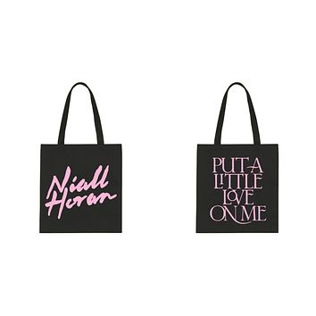 "Niall Horan ""Niall Horan New Logo / Put a Little Love on Me BACK"" Tote Bag"
