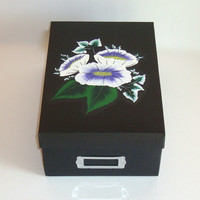Keepsake/ Photo/ CD /Memory  Box With Lavender Flowers
