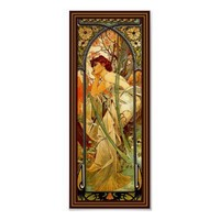 Alphonse Mucha ~ Daydream of Evening ~ Vintage Art Posters from Zazzle.com