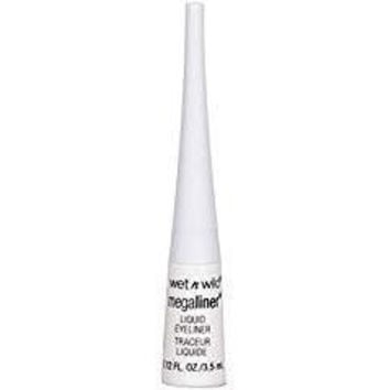Wet N Wild Megaliner Liquid Eyeliner - #34729 Trim With Lace (White) 0.12 Fl Oz/3.5ml