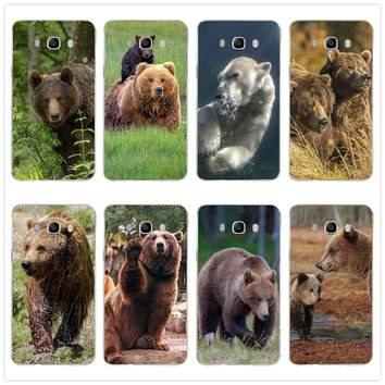 Mobile Phone Cases For Samsung Galaxy A3 A5 A7 J5 J7 J3 2017 J1 J2 2016 Soft TPU Back Cover Coque Hot Brown Bear Animal Style