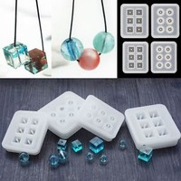 Silicone DIY Beads Mold Bracelet Pendant Jewellery Making Mould Resin Craft Tool