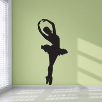 Ballet Dancer Silhouette Vinyl Wall Art Decoration