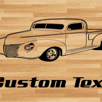 Chevy Truck Car Wall Decal - Auto Wall Mural - Vinyl Stickers - Boys Room Decor