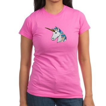 glitter unicorn Junior Jersey T-shirt (dark)