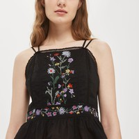 Embroidered Crossback Sun Top | Topshop