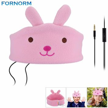 Kids Sport Sleep Headband Headphone Cartoon Earphones Music headband Soft Fleece Adjustable and Washable For Home and Travel