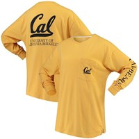 Women's Gold Cal Bears League Campus Long Sleeve Pocket T-Shirt