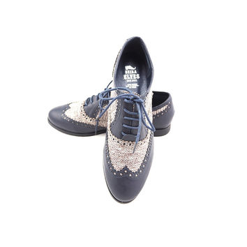 Santino blue canvas loafers