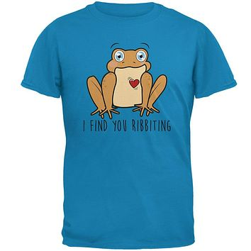 Toad I Find You Riveting Funny Pun Valentine's Day Mens T Shirt