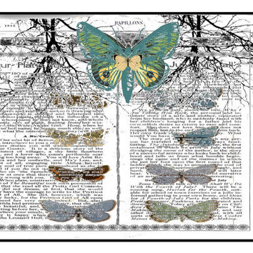 instant download, butterflies, Papillion art, bedroon wall art, birthday gift, new home art, 300 dpi jpeg, commercial use, digital download
