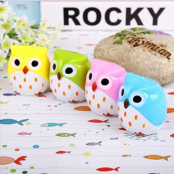 High quality hot sale cute owl pencil sharpener forr kids baby love toys education supplies school supplies with love