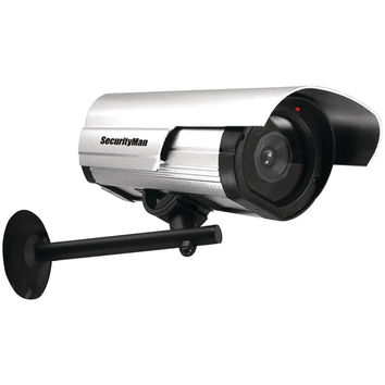 Security Man Simulated Indoor And Outdoor Camera With Led