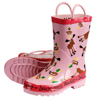 Duck Duck Moose Pink Toddler Rain Boots
