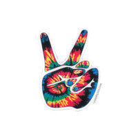 Tie Dye Peace Hand Pin on Sale for $2.99 at HippieShop.com