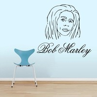 Wall Decals Bob Marley Decal Vinyl Sticker Family Bedroom Music Studio Home Decor Ms174