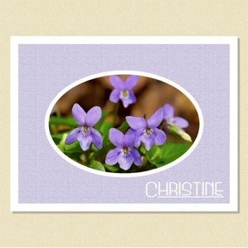 Irresistible Violets - Personalized Note Cards 10 Folded | DianesNoteCards - Cards on ArtFire