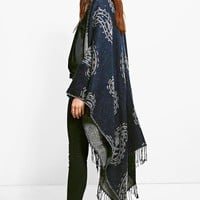 Faith Paisley Tassel Cape