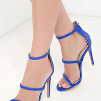 Three Love Cobalt Blue Dress Sandals