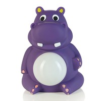 Crane Hippo Belly Glo Night Light (Purple)