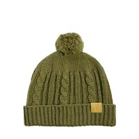 ASOS Fisherman Beanie Hat with Bobble in Wool Blend