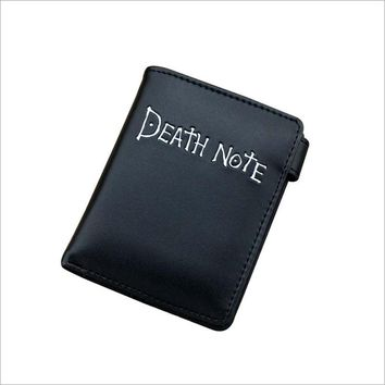 Anime Death Note Simple and Cool Black PU Purse/Penny Wallet with Button