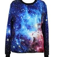 W&Hstore Galaxy Space Painting Thin Sweater Sweatshirt Good Quality (18)