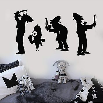 Vinyl Wall Decal Agent Detective Sherlock Holmes Nursery Stickers Unique Gift (896ig)