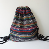 Boho Drawstring Backpack